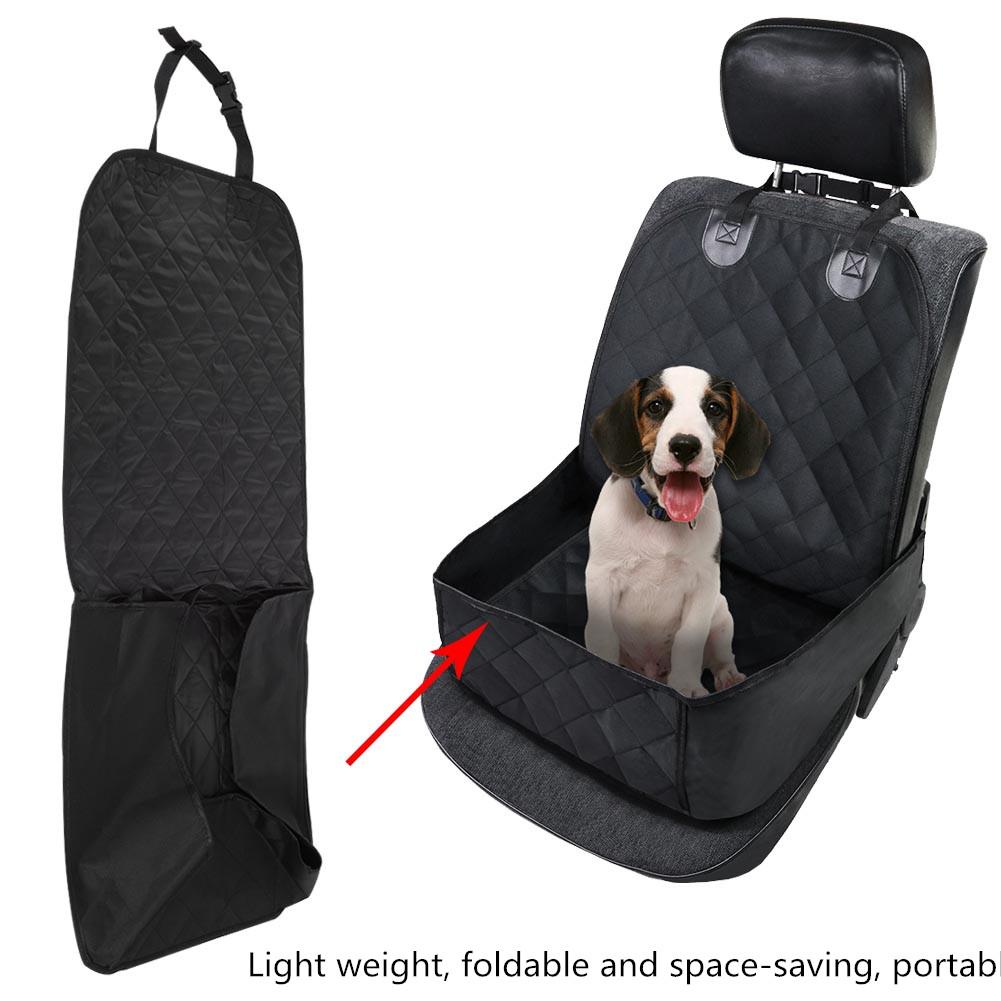 Waterproof Foldable Pet Dog Cat Car Front Single Seat Cover Protector Mat Black