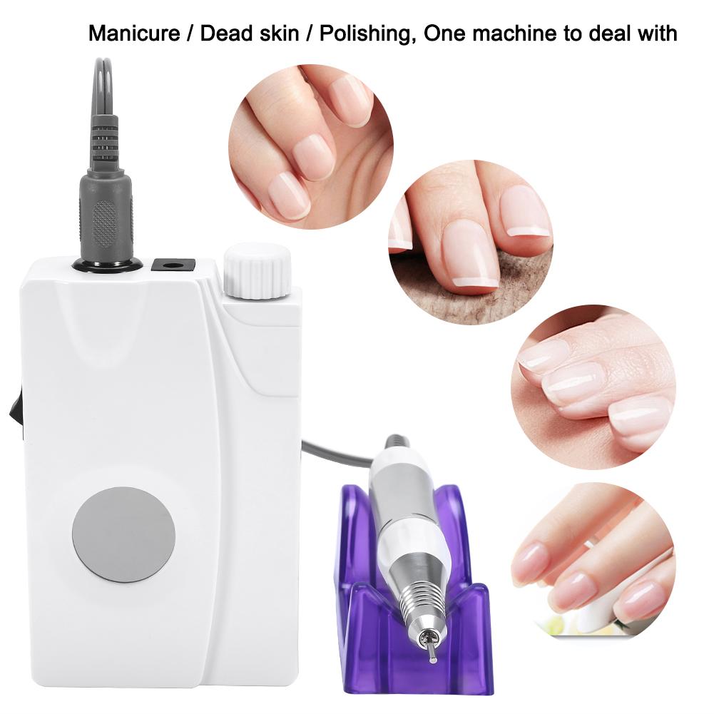 US/UK/EU Plug Rechargeable Nail Drill Nail Polisher Nail Grinder ...
