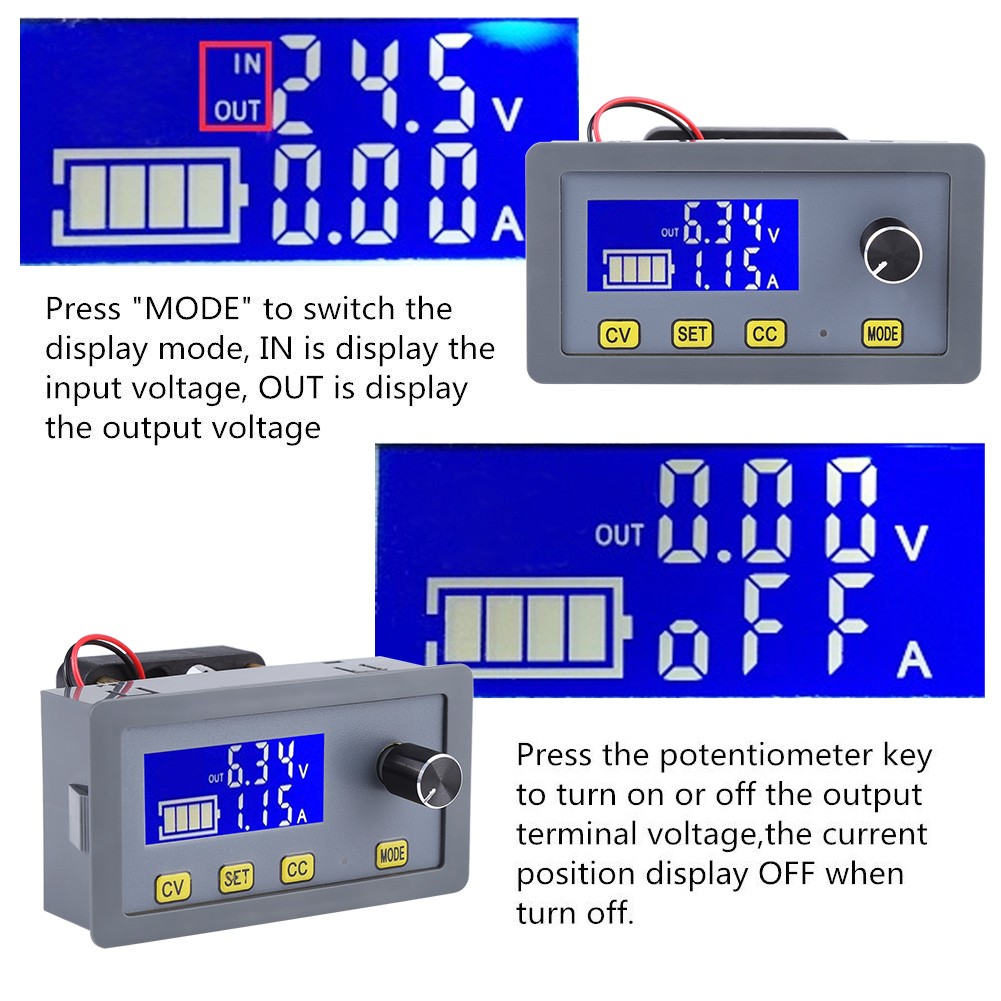 Dc 6 32v To 0 5a Adjustable Lcd Digital Step Down Power High Efficiency Switch Mode 33v Converter Descriptions