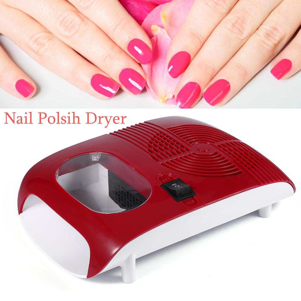 Hot/Cold 110W Nail Art Finger Toe Dryer Polish Air Drying Blower Fan ...