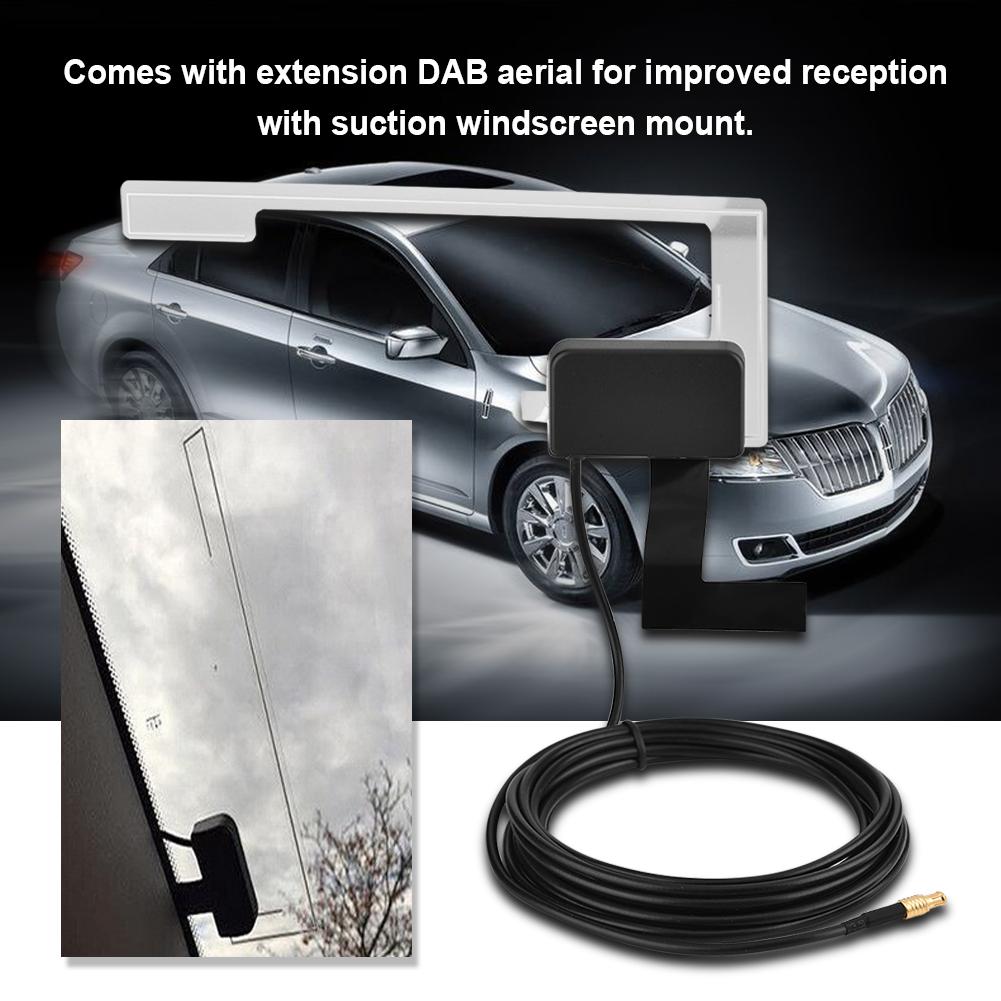 car dab radio receiver oled tuner fm transmitter adapter. Black Bedroom Furniture Sets. Home Design Ideas