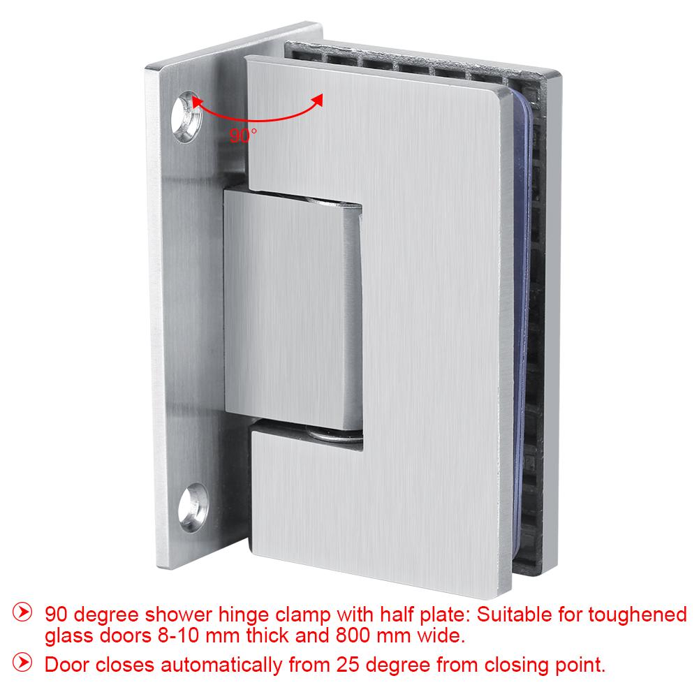 Mini Bracket Frameless Wall to Glass Shower Door Hinge Wall Mount 8 ...