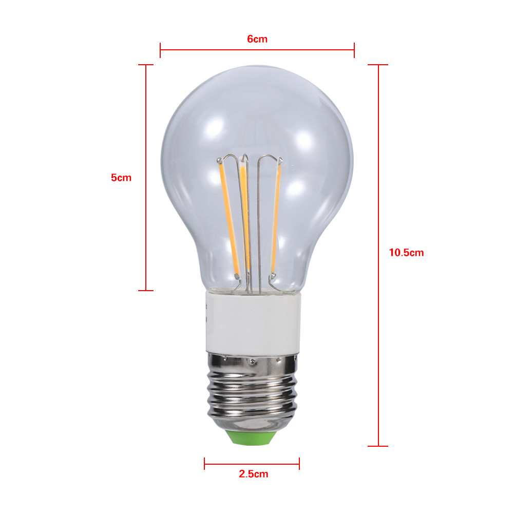 e27 12v 3w 4w 6w cob led filament bulb 360 non dimmable light transparent co ebay. Black Bedroom Furniture Sets. Home Design Ideas