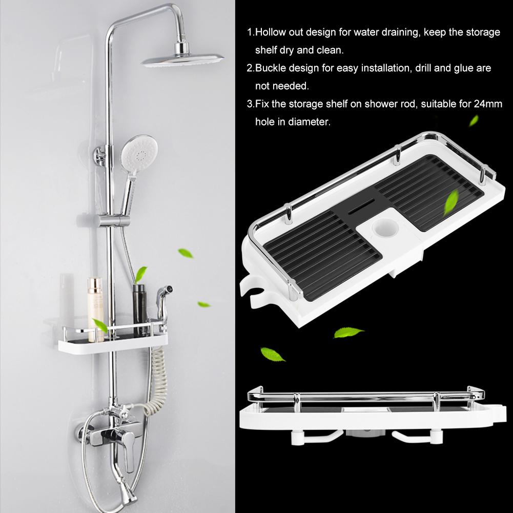 Stainless Steel Kitchen Bathroom Shower Shelf Storage Basket Caddy ...