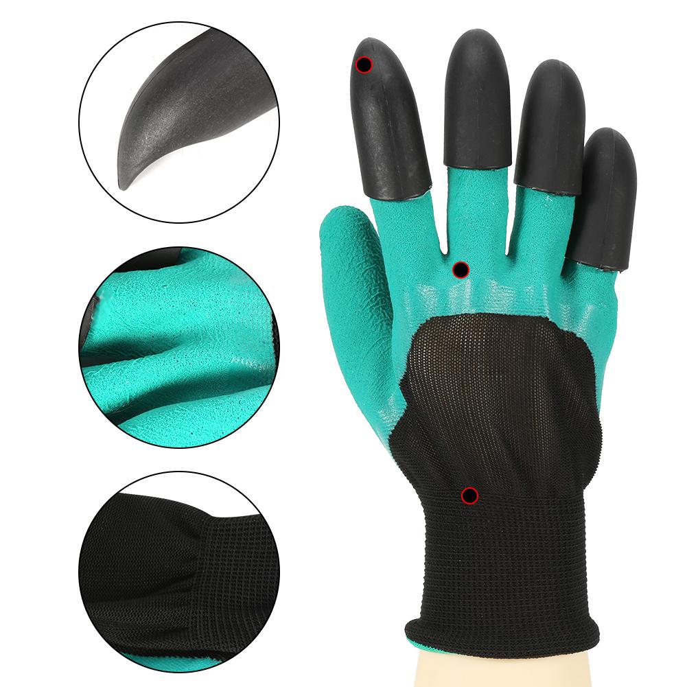 4 Paar Gartenhandschuhe Arbeit Handschuhe Gaten Pflanzen Wasserdicht 4 Krallen