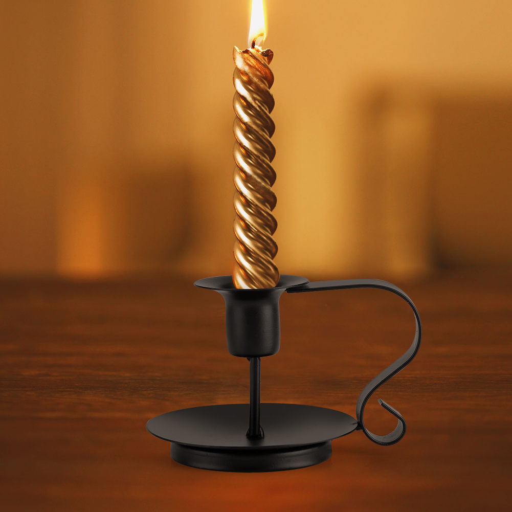 Iron Candle Stand Designs : Retro iron taper candle holder handmade candlestick stand