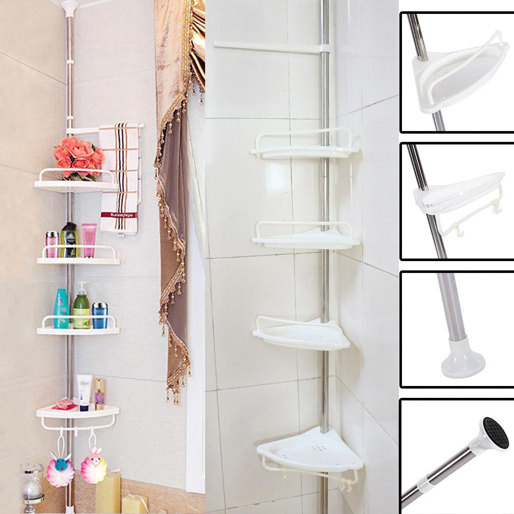 Bathroom Bathtub Shower Bath Caddy Soap Holder Corner Rack Shelf ...