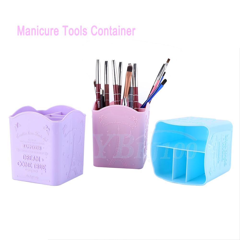 Nail Art Organizer: Practical Storage Box Container Organizer For Makeup Brush