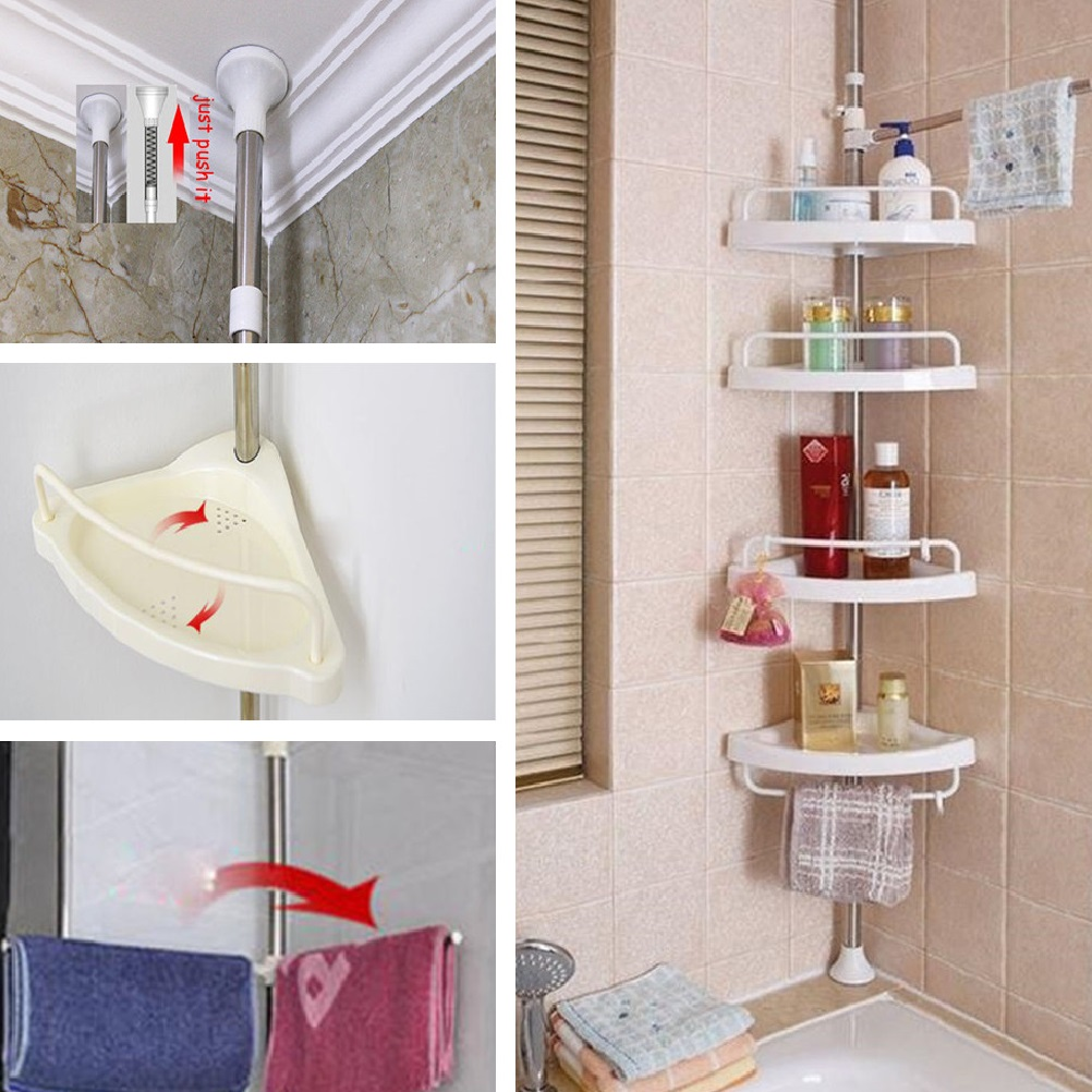 Bathroom Shower Caddy Accessory Rack Toiletry Holder Corner Shelf ...