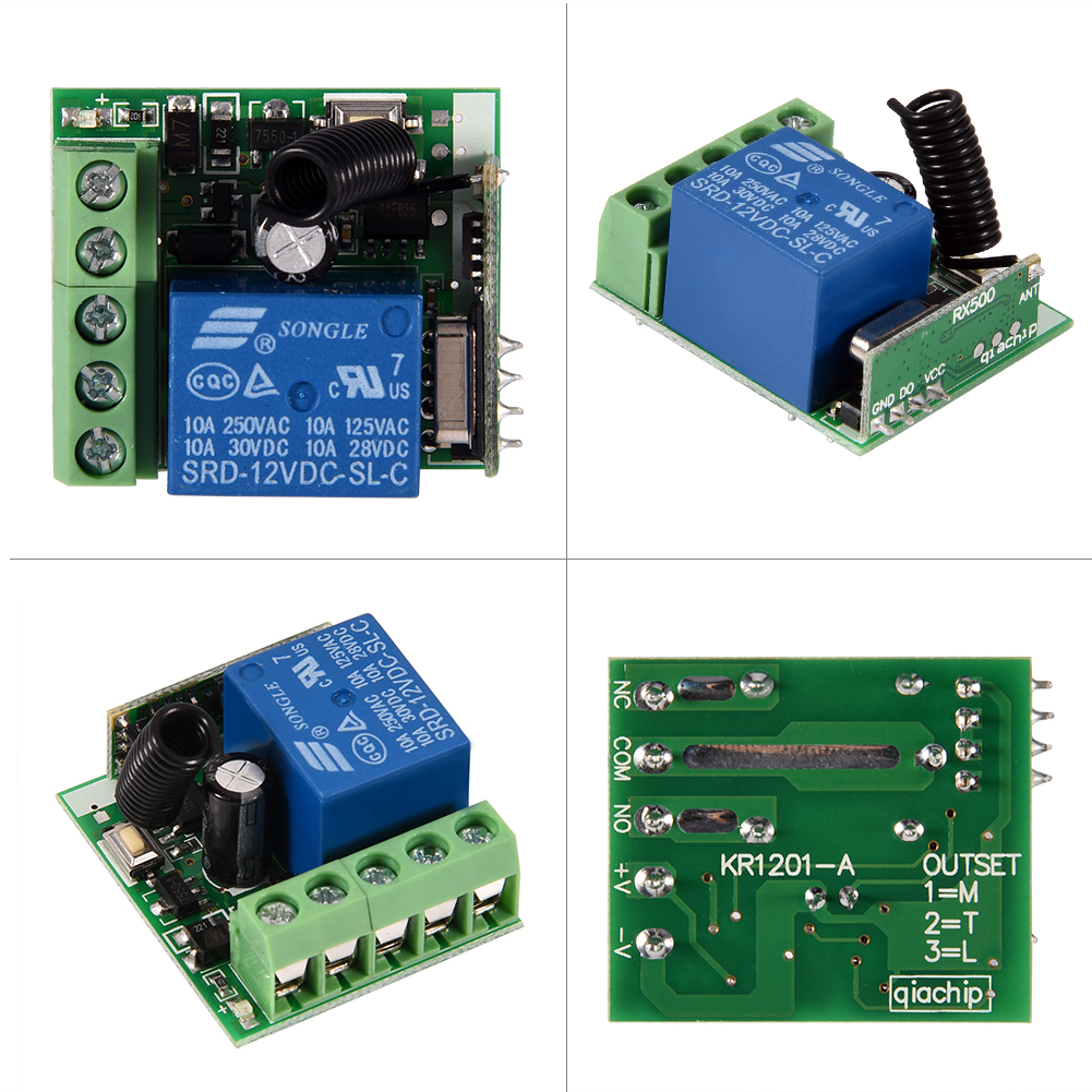 12v 1 Channel Receiver Wireless Relay Rf Remote Control Switch Diy Simple Circuit Without Microcontroller Homemade Module 433mhz