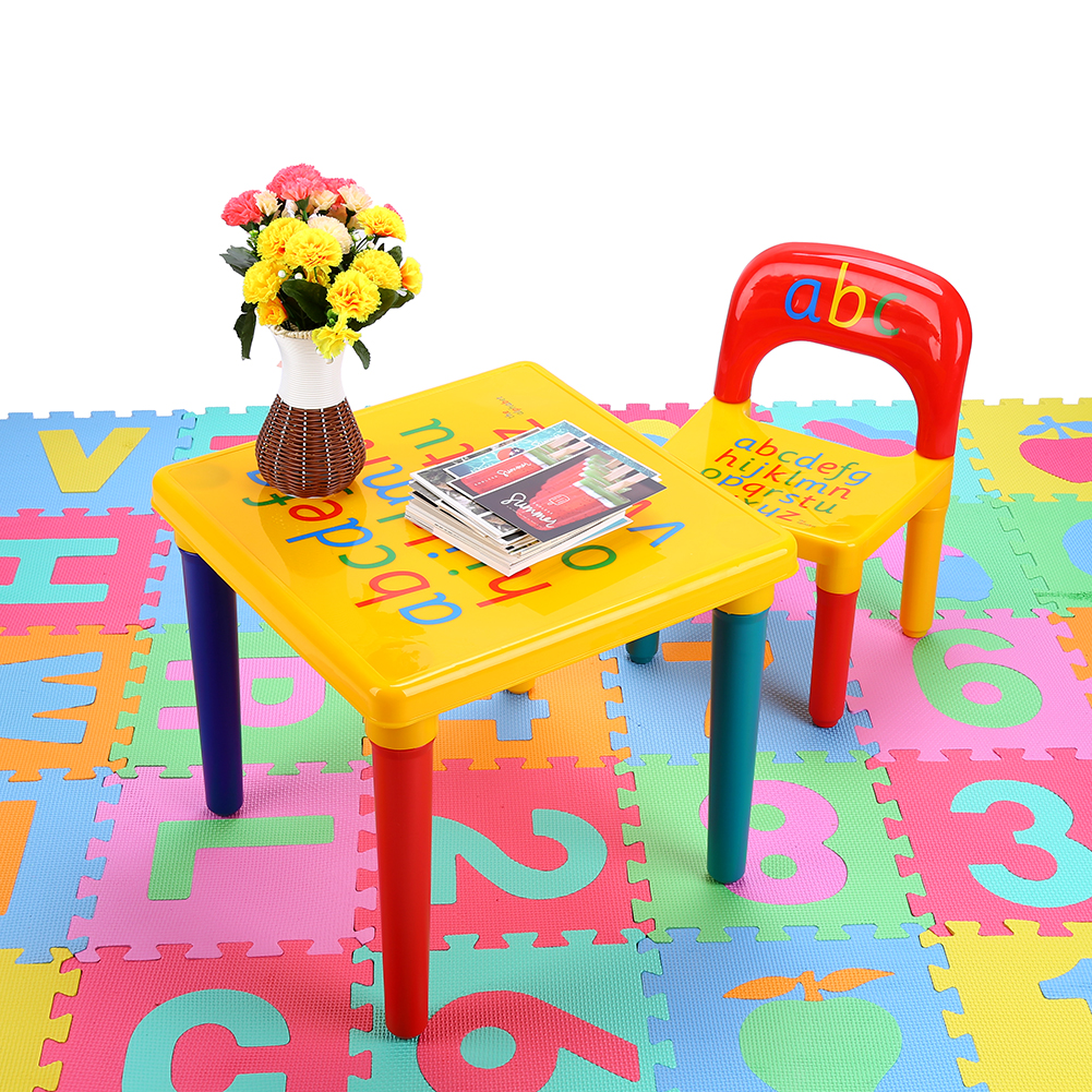 Kids Baby Table Chair Set Children Play Letter Education Learning Activity Study  sc 1 st  eBay & Kids Baby Table Chair Set Children Play Letter Education Learning ...