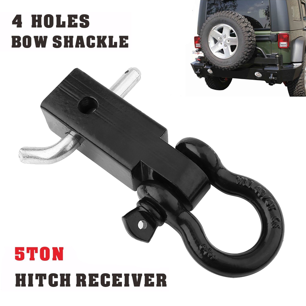 Tow Hitch Accessories >> 5t Trailer Hitch Bow Shackle Tow Bar For Car 4x4 Off Road Vehicles