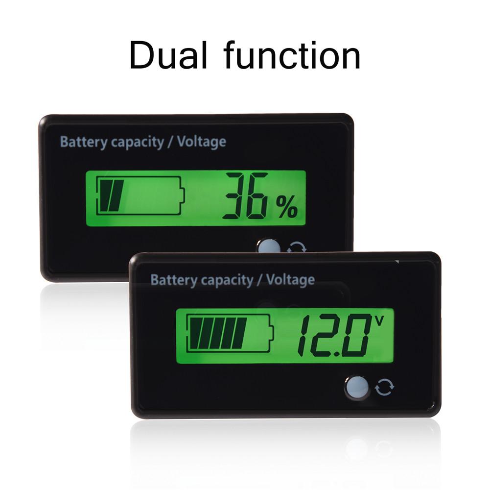 12v Lcd Lead Acid Battery Fuel Gauge Indicator Meter Waterproof Sla Gel Charger Circuit With Monitor Function Green Wl