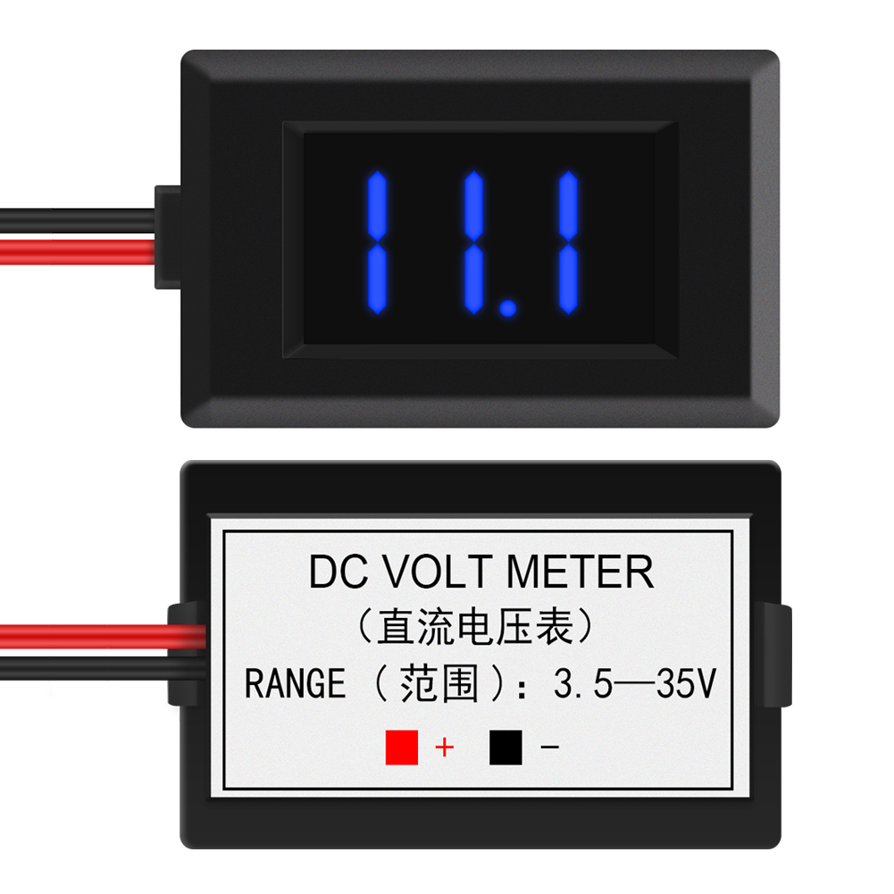 Dc 2 Wire Led Digital Display Panel Volt Meter Voltage Voltmeter Car Wiring Monitor Wt