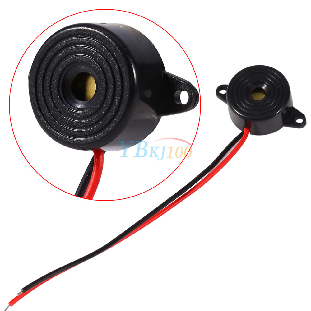 Details about Piezo Electronic Tone Buzzer Alarm 95dB Continuous Sound  3-24V w/Mounting Hole