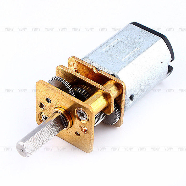 DC3V 6V 12V N20 Micro Speed Reduction Gear Motor with Metal Gearbox Wheel 3x10mm