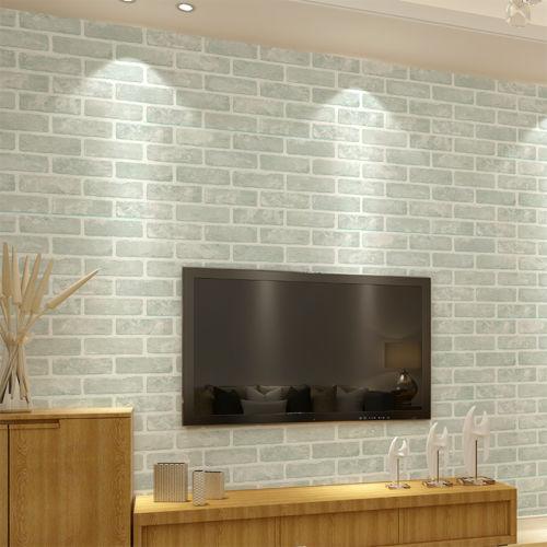 3 Colour Slate Brick Feature Wallpaper Stone Effect