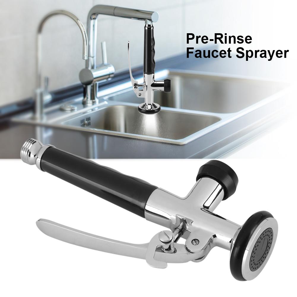 Pull Down Kitchen Faucet Swivel Sink Tap Pre-Rinse Spout Spray Head