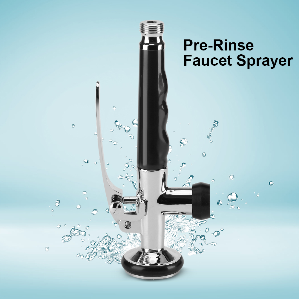 Pull Down Faucet Swivel Sink Tap Pre-Rinse Spout Spray Head Kitchen ...