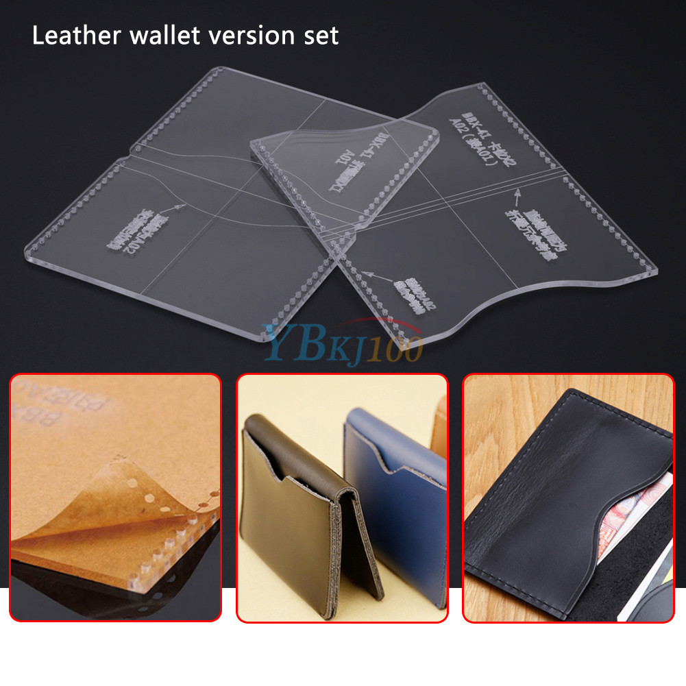 Acrylic Clear Template Handcrafting Set For Leather Wallet Pattern ...