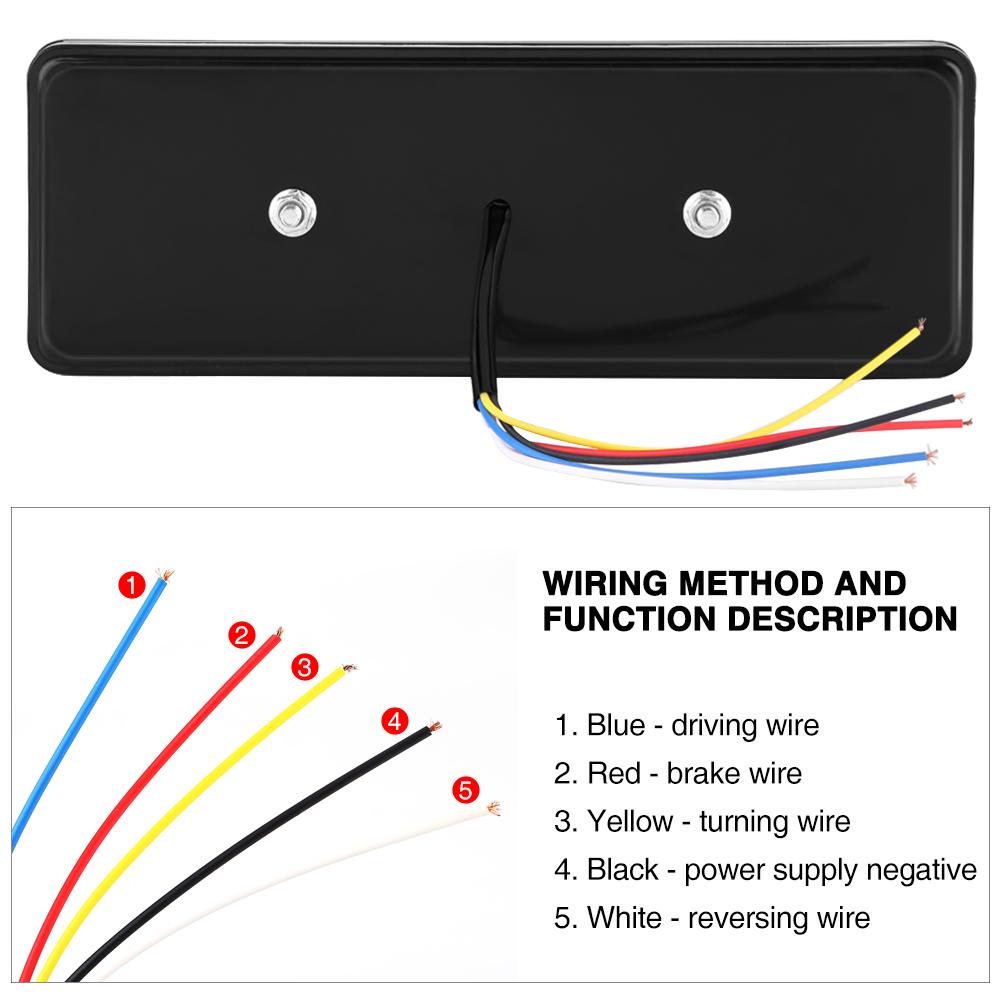 2x 75 Led Trailer Truck Rv Tail Light Indicator Brake Stop Reverse How To Wire Lights Turn Lamp 12v