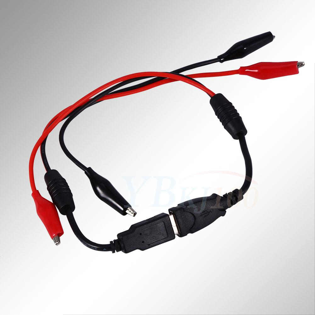 Alligator Test Usb Crocodile Clips To Male Female Detector Tester Wiring Block Detectors Wire Cable