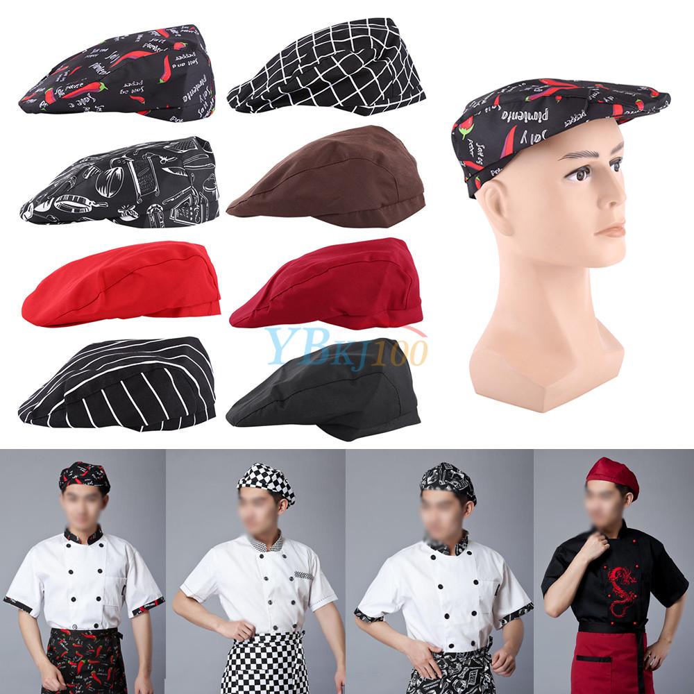 Womens Mens Chef Hat Catering Baker Sushi Japanese Kitchen Duckbill Cook Caps