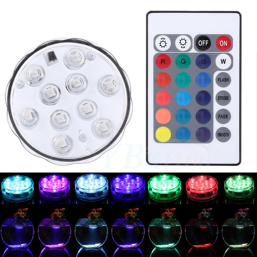 Aquarium Controller 10 Steps With Pictures: Diving Aquarium RGB Remote Control Waterproof 10LED Candle