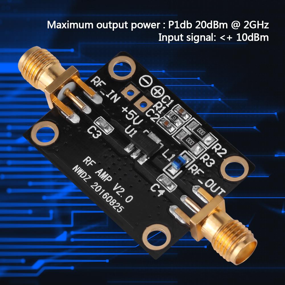 20db Rf Amplifier Lna 005 6ghz Fm Hf Vhf Uhf Ham Radio Module With 30 Watts Power Stw