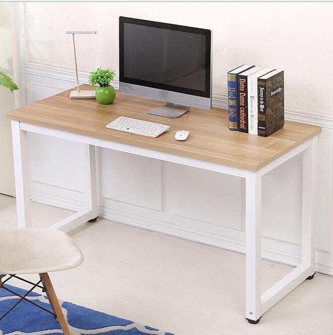 computertisch schreibtisch arbeitstisch b ro tisch holz metall 120 60 74cm neu ebay. Black Bedroom Furniture Sets. Home Design Ideas