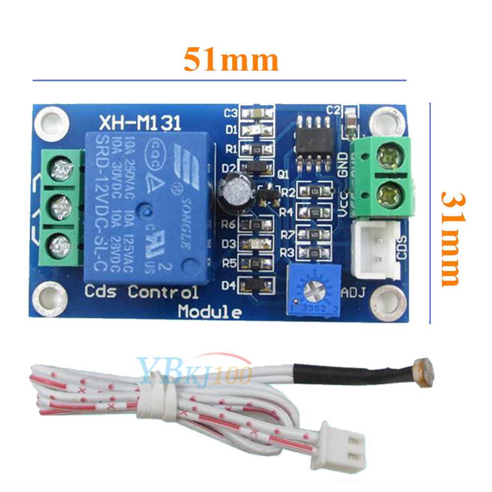 12V Car Light Control Switch Photoresistor Relay Module Detection Sensor
