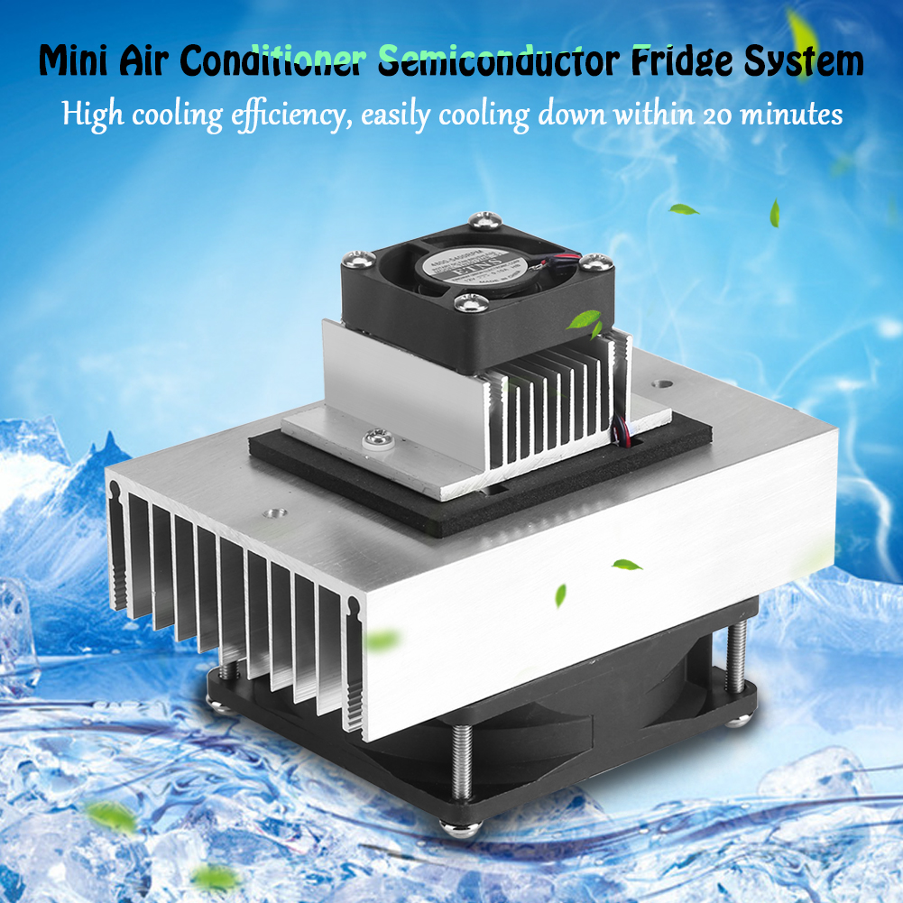 Fdit DC12V Electronic Semiconductor Refrigeration DIY Cooler Cooling System Kit