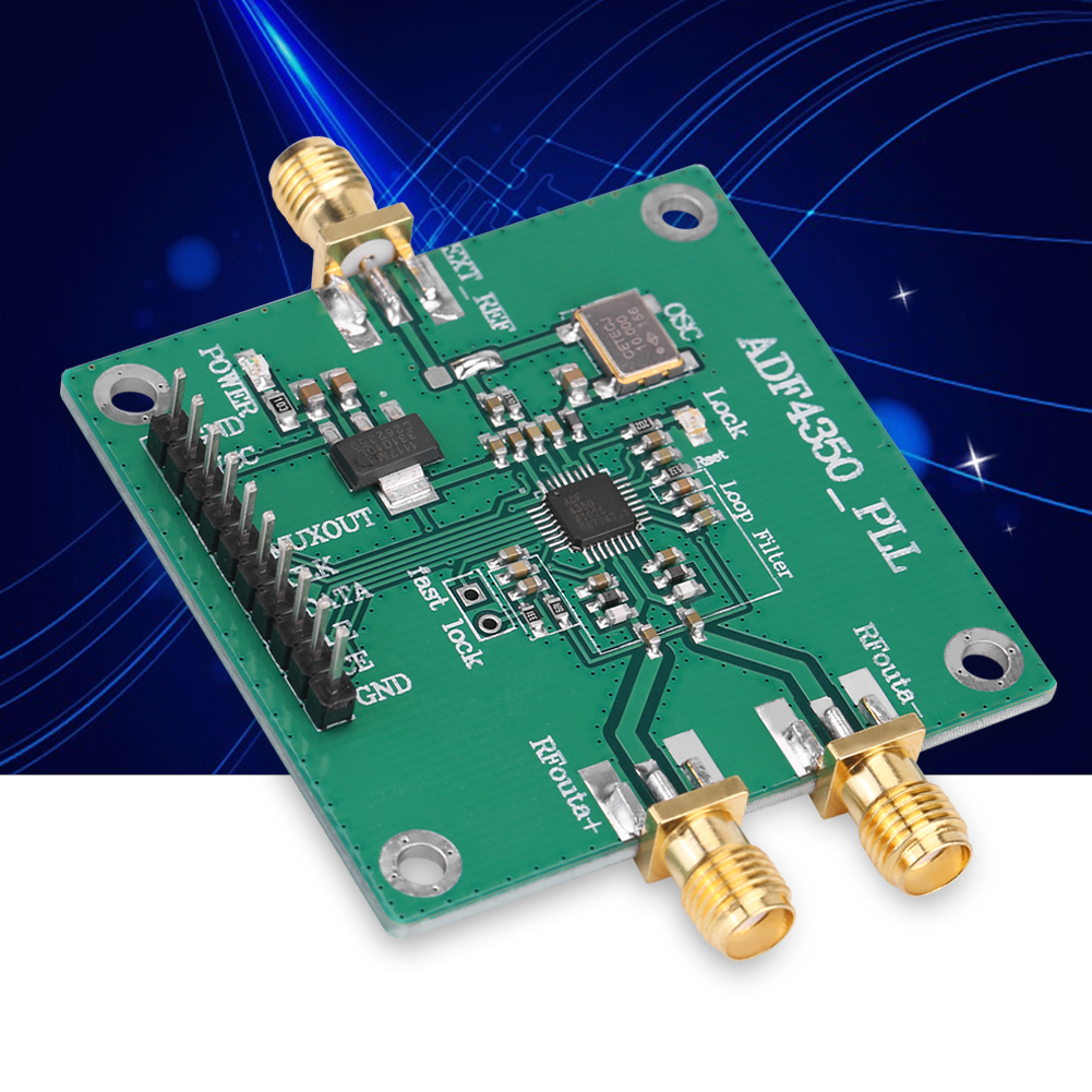 137m44ghz Pll Frequency Synthesizer Signal Source Development Board Adf4350
