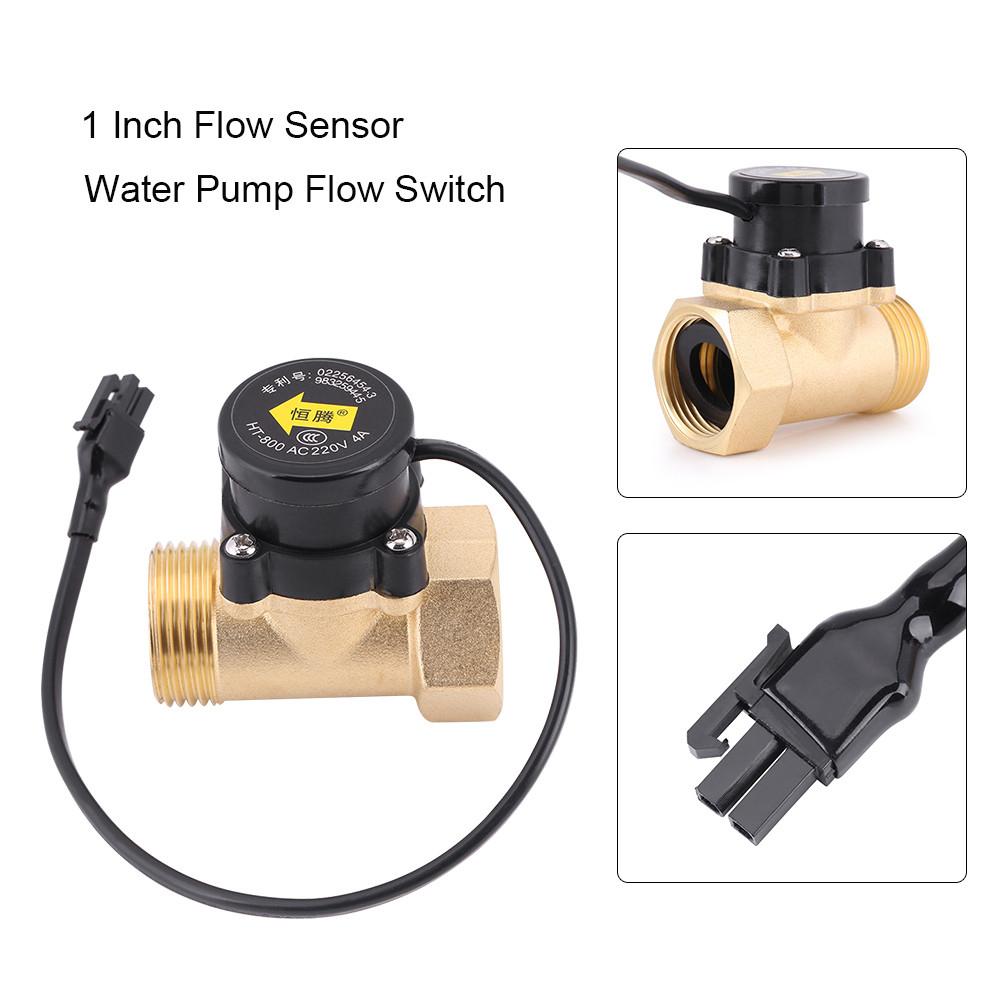 ht 800 1 inch flow sensor switch 220v pump flow meter. Black Bedroom Furniture Sets. Home Design Ideas
