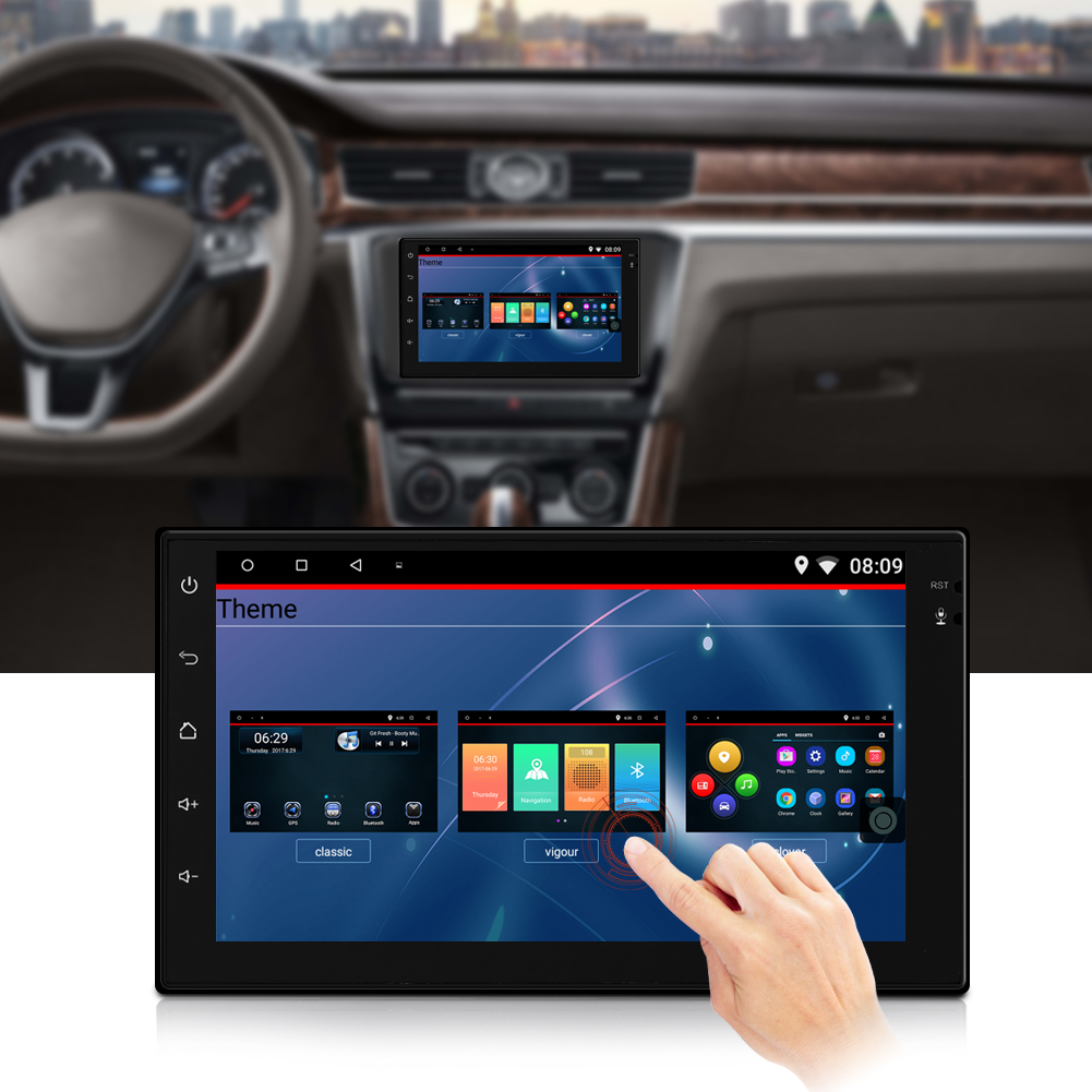 7 inch hd touch screen bluetooth auto video mp5 player gps navi f r android 6 0 ebay. Black Bedroom Furniture Sets. Home Design Ideas