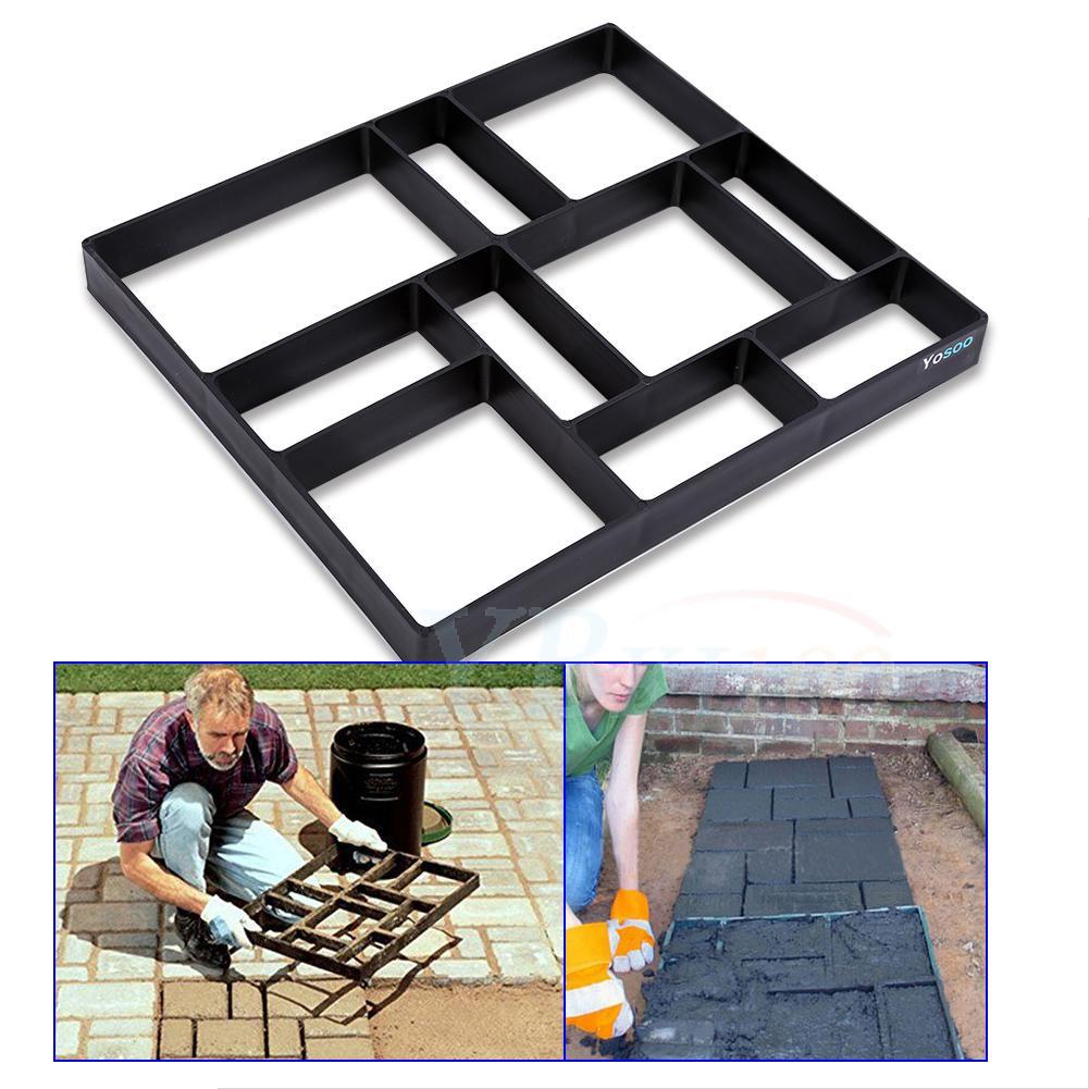 Dalle Beton Pour Allee diy mould brick paving driveway paving garden patio slab concrete cement  path | ebay