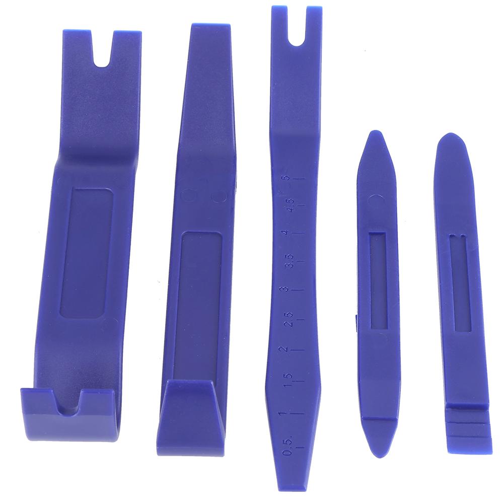 5Pcs Blue Nylon Dash Door Trim Panel Clip Moulding Removal Pry Open Tool Remover