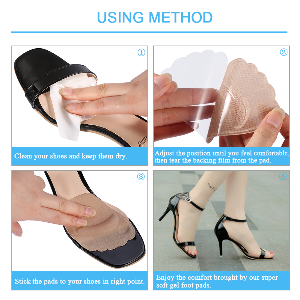High Heel Shoe Inserts Foot Pain Relief Belle of the Ball: Foot Gel Cushions