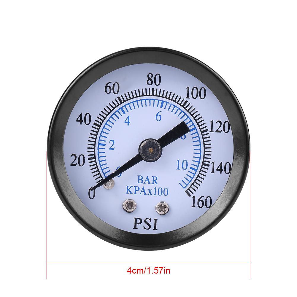 """1pc Mini High Precision Fuel Air Oil Water Pressure Gauge 1//4/"""" NPT Thread"""