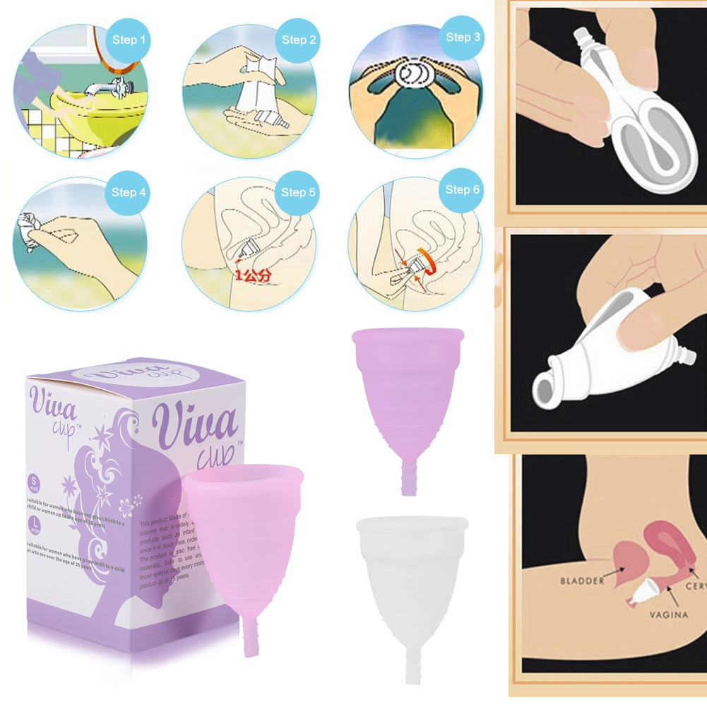 1x reusable medical silicone soft menstrual period cup - Diva cup italia ...