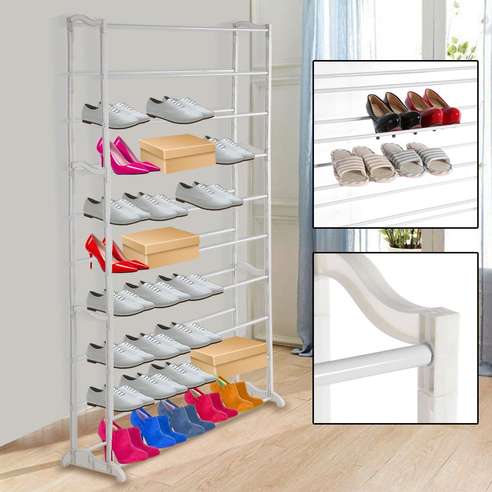 10 ebenen schuhregal schuhschrank schuhablage schuhst nder f r 50 paar schuhe ebay. Black Bedroom Furniture Sets. Home Design Ideas