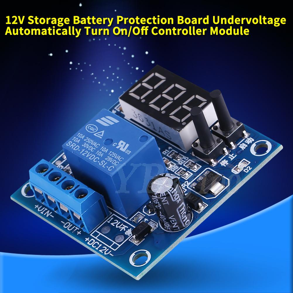 12V Battery Low Voltage Cut Off Automatic Switch On Protection Under Voltage Controller with LED Indicator Battery Controller
