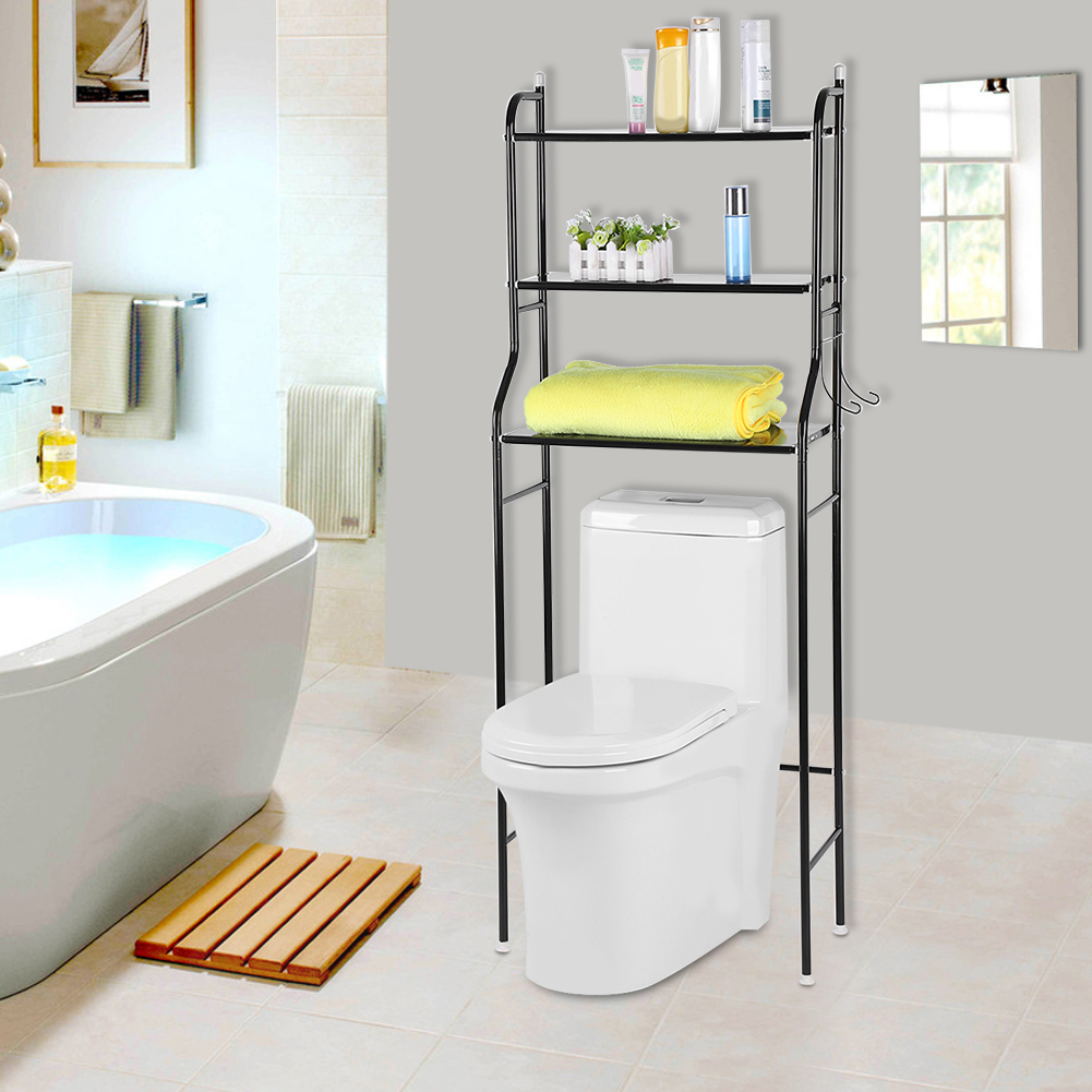 3 Tier Over Toilet Bathroom Storage Rack Shelf Organizer Space Saver ...