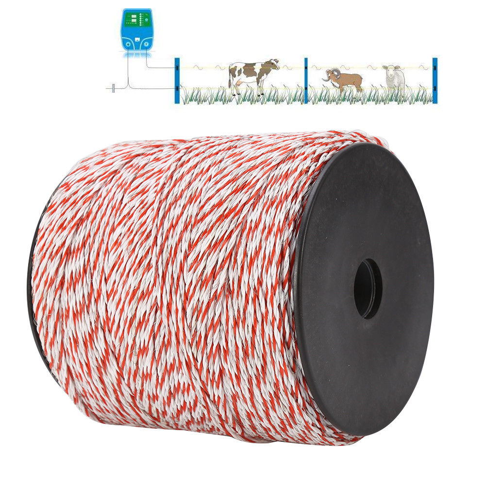 1000m Polywire Roll Electric For Fence Energiser Stainless