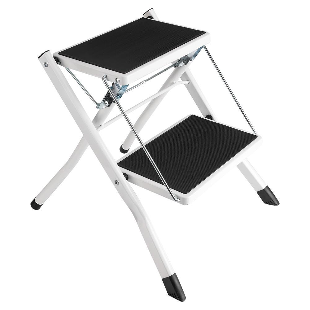 2 stufen haushaltsleiter trittleiter stufenleiter klapptritt faltbar anti rutsch ebay. Black Bedroom Furniture Sets. Home Design Ideas