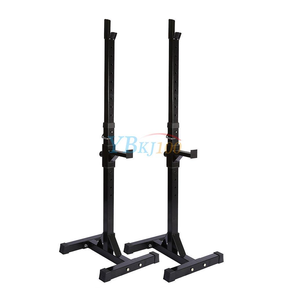 2x squat rack everfit bench press home gym weight lifting