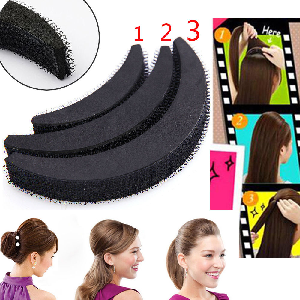 Hair Volume Boost Invisible Sponge Base Fluffy P Up Puff Insert Foam Pad Es