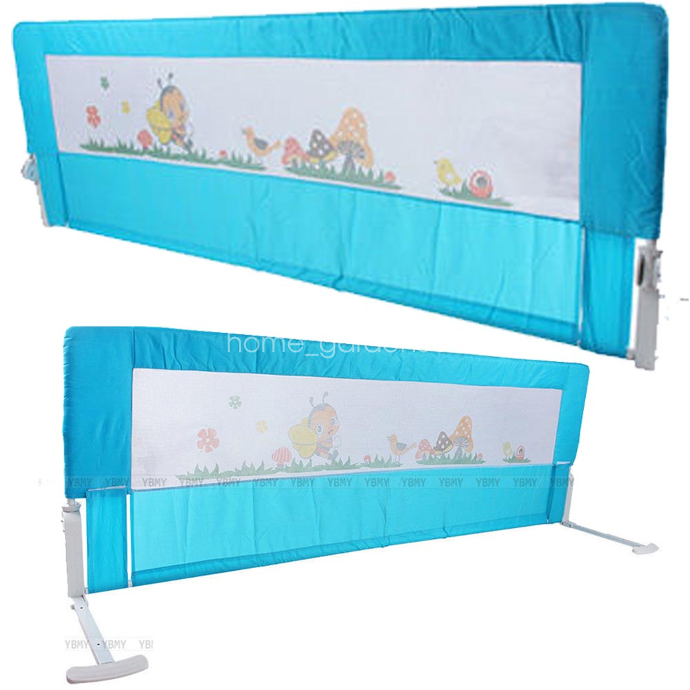 Guard Protection Safety Child Toddler Bed Rail Baby Bedrail Fold Cot Pink 2 Size