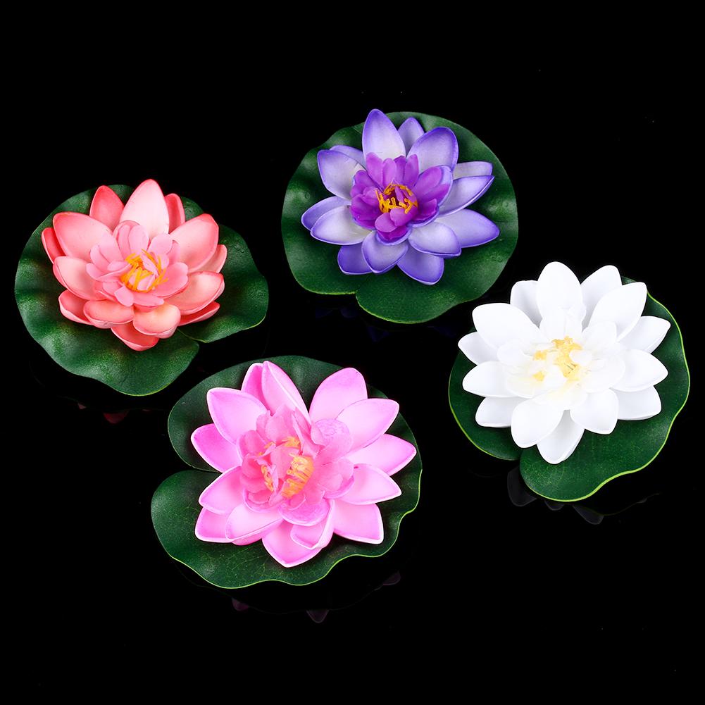 Mixed Artificial Aquarium Lotus Water Lily Floating Flower Garden