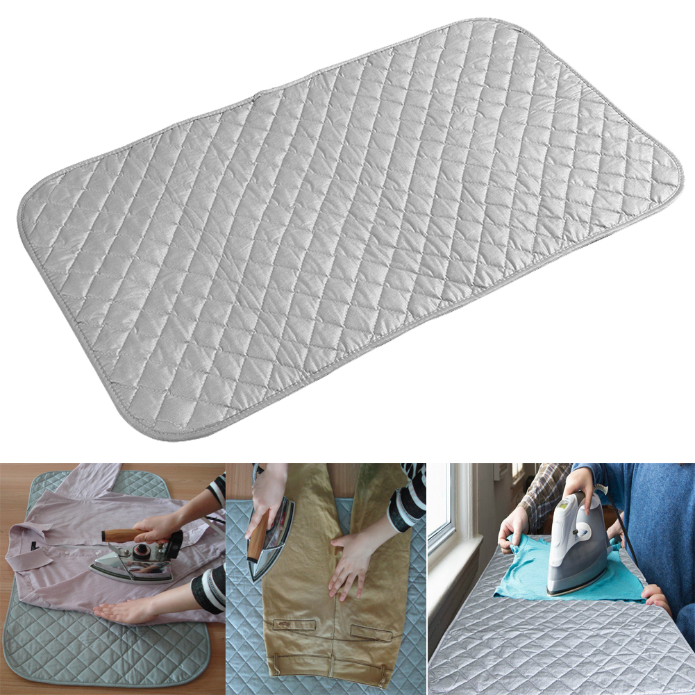 Bon Portable Foldable Ironing Pad Mat Blanket For Table Top Travel Ironing  Board DY
